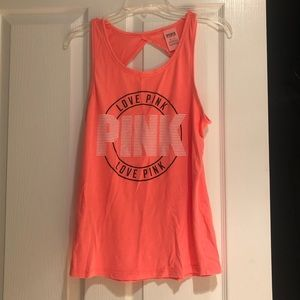 PINK tank top with cut out in back